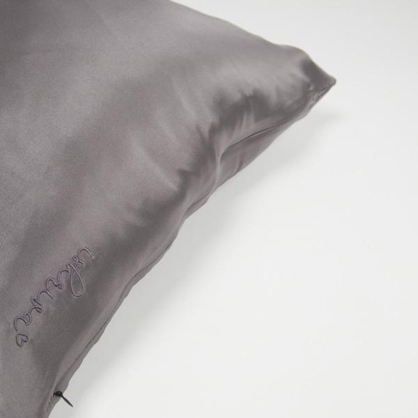 svilena prevleka za vzglavnik siva
