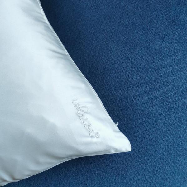 bianca bela svilena prevleka za vzglavnik