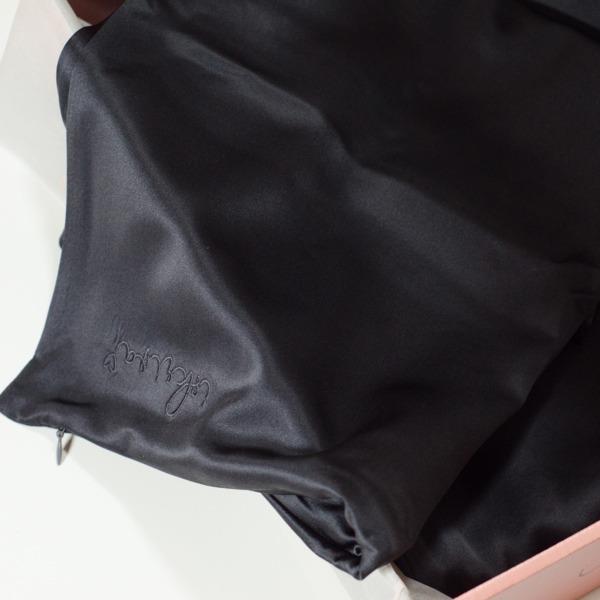 iskriva ogljeno črna svilena posteljnina